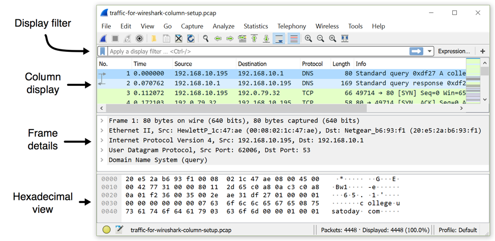 Customizing Wireshark - Changing Your Column Display