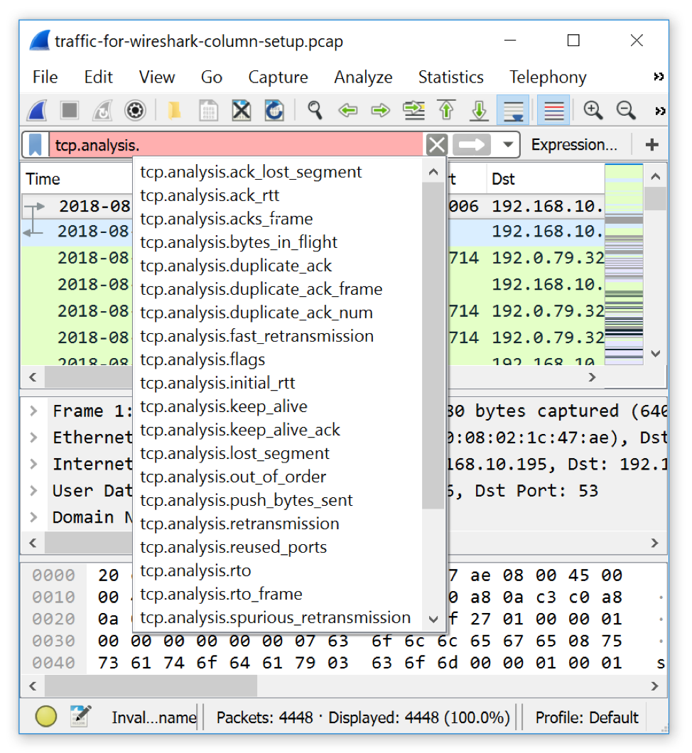 Using Wireshark - Display Filter Expressions