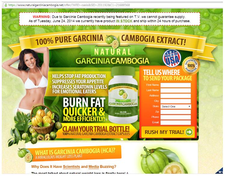 図15 Garcinia Cambogiaの販売ページの変種2