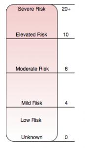 図5 リスクを決定するための階調スケール