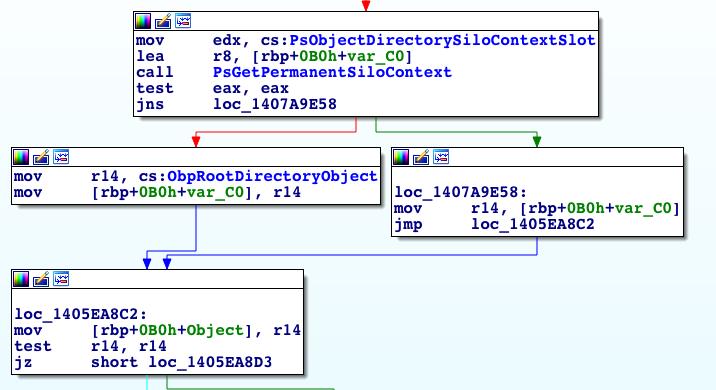 図7: RootDirectoryObjectを選択する部分