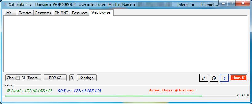図10. Sakabotaでサポートされていない「Web Browser」タブ