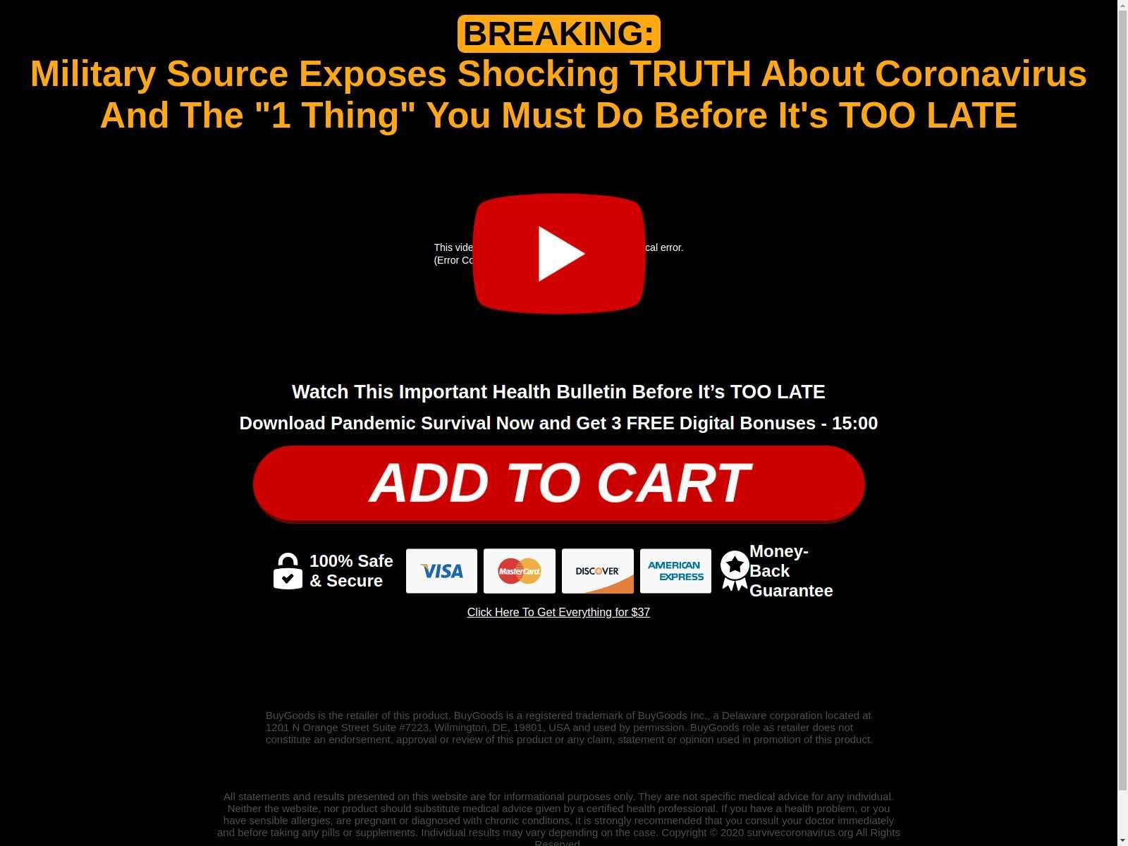 coronavirus scam scaring users