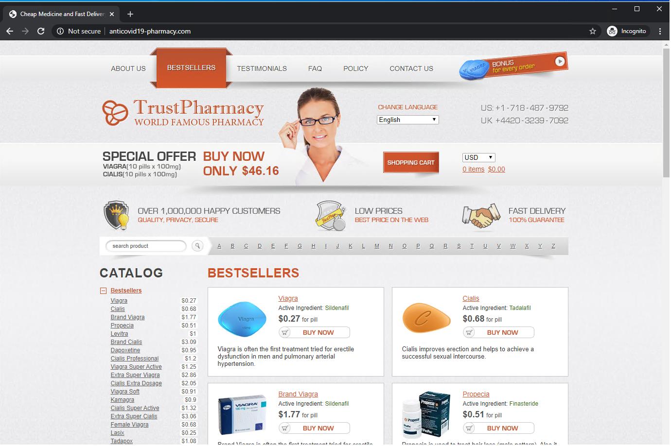 Coronavirus scams illicit pharmacy