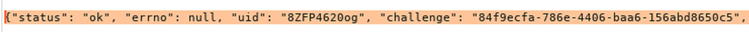 図5: チャレンジのクリアテキスト送信