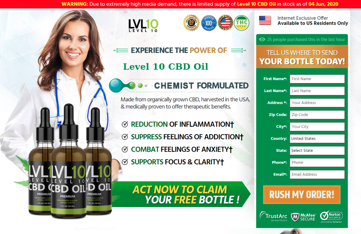 "The screenshot shows the end stage of a scam being run from a cybersquatting domain mimicking the Portuguese Netflix main page. If a user provides an email address, then clicks on the email received, the user winds up here, at a page that reads, ""Act now to claim your free bottle"" or ""level 10 CBD oil."""