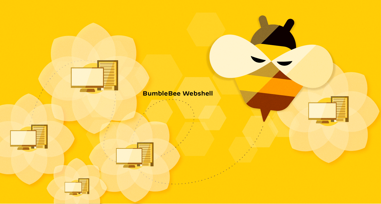 The BumbleBee webshell, conceptually illustrated here, was discovered as part of an investigation of the continued xHunt campaign.