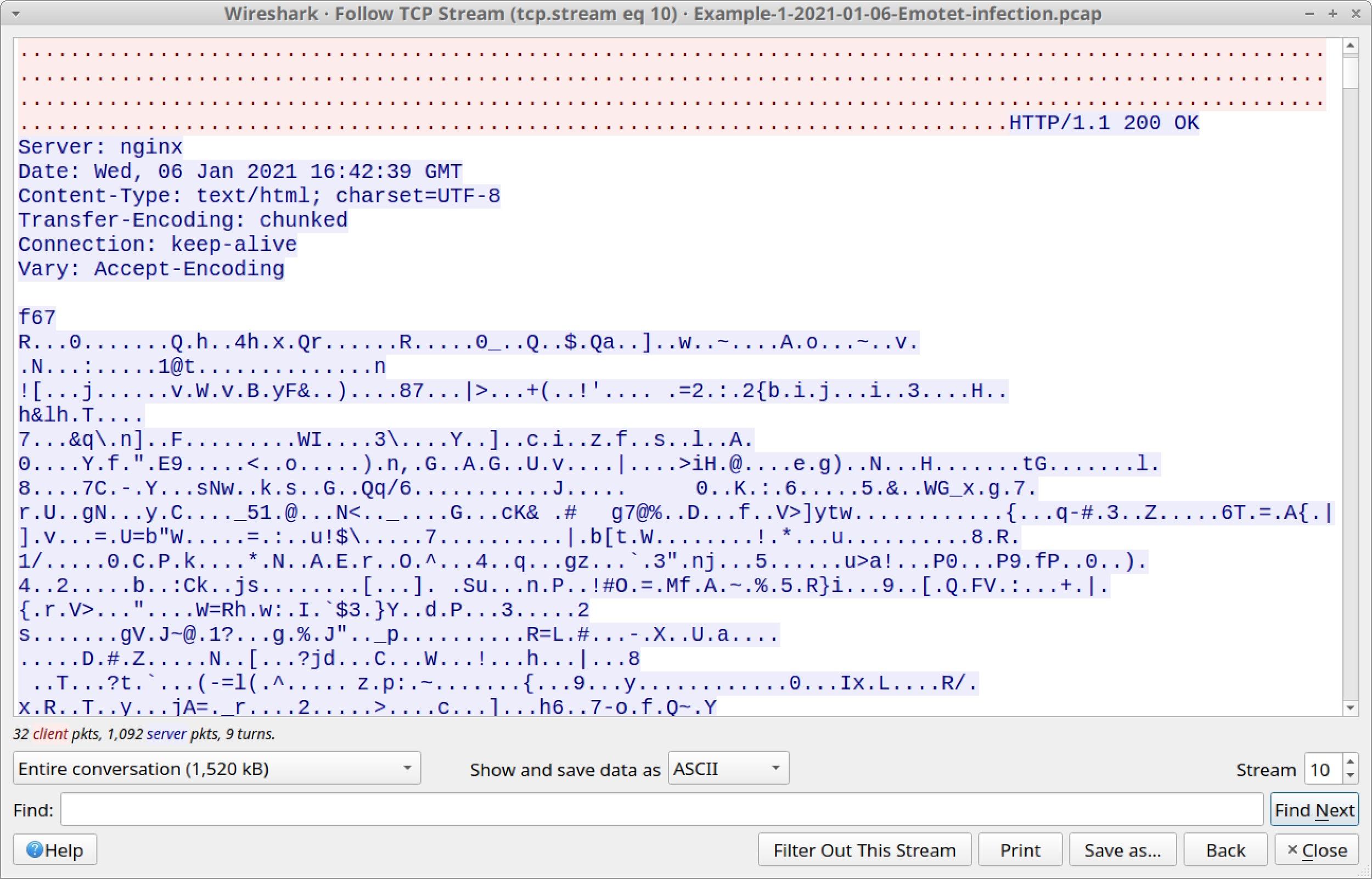 図13 HTTP POSTリクエストへのレスポンスとしてサーバーから返されるエンコードされたデータ