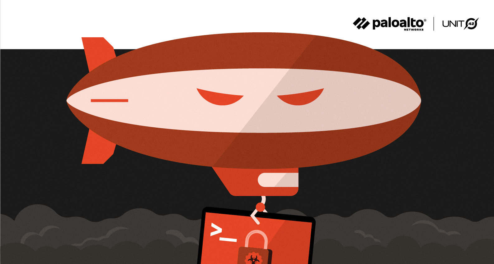 Conceptual image representing Zeppelin ransomware as part of the ransomware threat assessments companion to the 2021 Unit 42 Ransomware Threat Report.