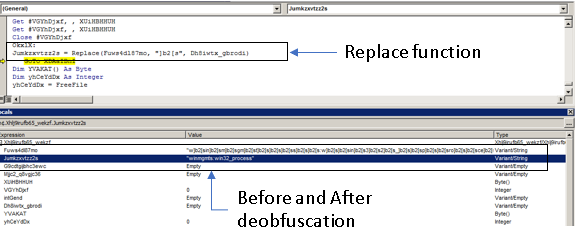 Figure 5. Replace function and data before and after obfuscation.