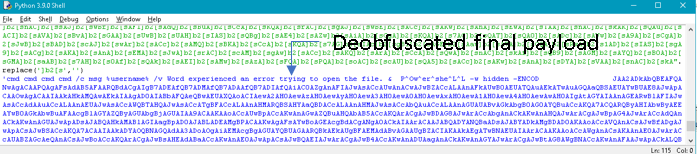 Figure 7. Deobfuscated final payload.
