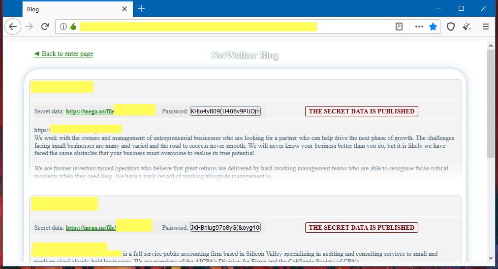 図2 NetWalkerのリークサイト(出典: ZDNet)