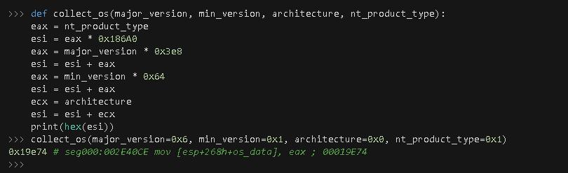 Figure 6. Python proof of concept (PoC) emulating the OS data generation algorithm.