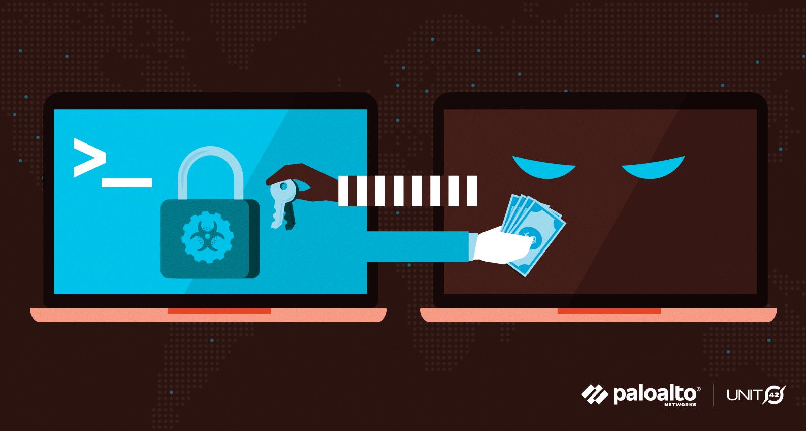 A conceptual image representing ransomware attacks