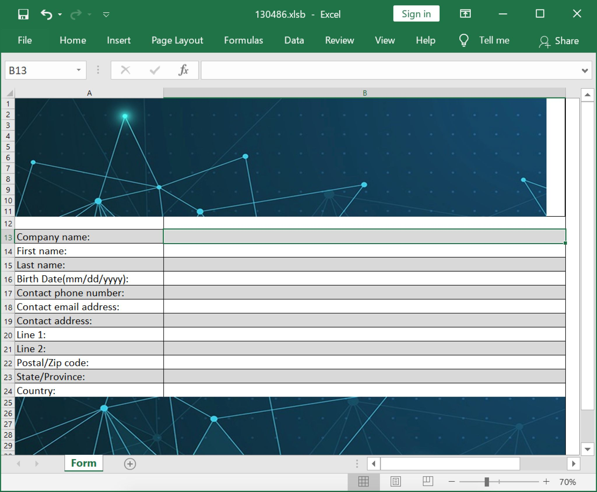 Screenshot of Excel file, which changed its name after enabling macros.