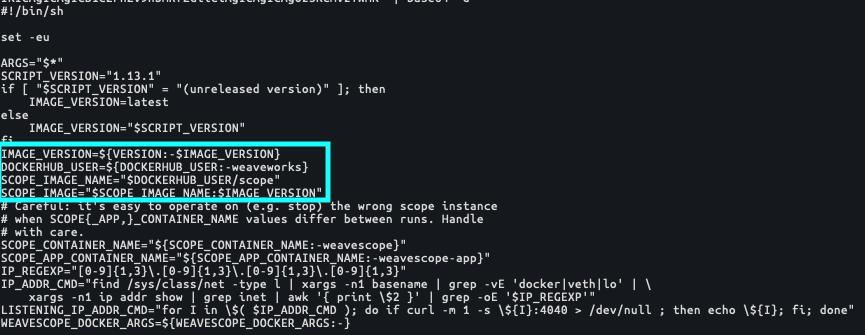 base64エンコードされたsetup_scope.sh</s1>スクリプトのコード(SHA256:<s2>584c6efed8bbce5f2c52a52099aafb723268df799f4d464bf5582a9ee83165c1)からもわかるとおり、TeamTNTはWeaveコンテナの情報を持つDockerユーザーアカウントを狙っています。