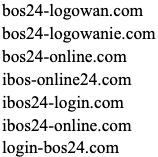 """Cluster of domains displaying the following pattern: Usage of """"24"""""""