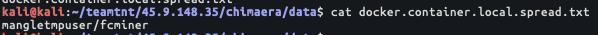 興味深いのが、ローカルのDockerイメージ名をリストアップしているスクリプトファイルdocker.container.local.spread.txtです。このDockerイメージはローカルのDockerイメージです。つまり、Docker Hubなど外部のDockerリポジトリからホストされてダウンロードされたものではありません。