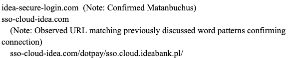 """Cluster of domains displaying the following pattern: Usage of """"Idea"""""""