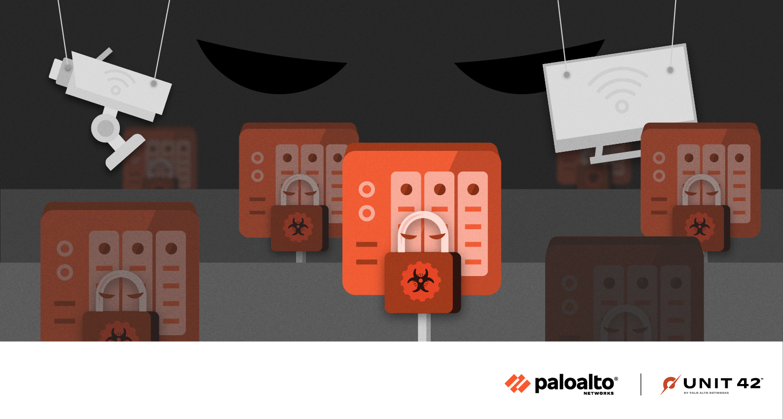 A conceptual image representing the network-attached devices common in the small office and home office that are being targeted by the eCh0raix ransomware variant.